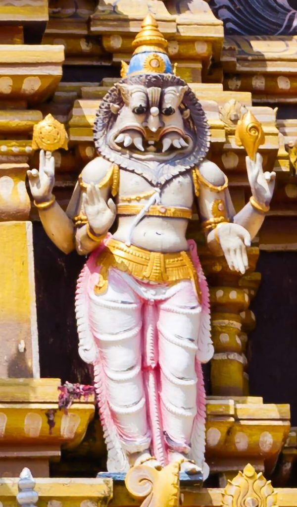 Lord Narasimha described in Narasimha Ashtothram or 108 names of Narasimha