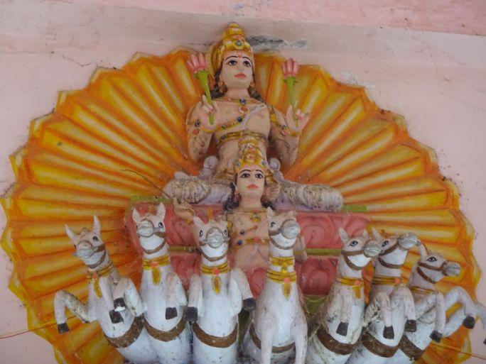 Lord Surya described in Surya Ashtottara Shatanamavali or 108 names of Surya