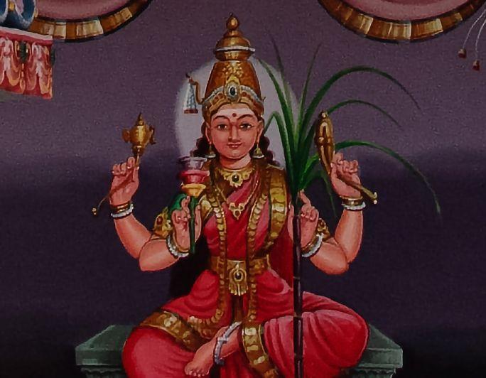 Goddess described in Tripura Sundari Stotram