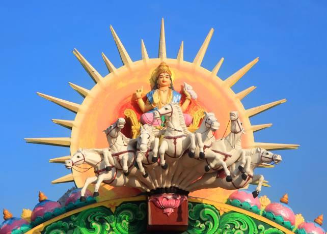 God Aditya or Surya described in Aditya hrudayam