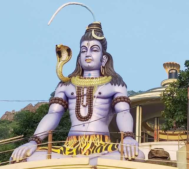 God Shiva in a meditating pose with a Shiva lingam - Nirvana shatakam
