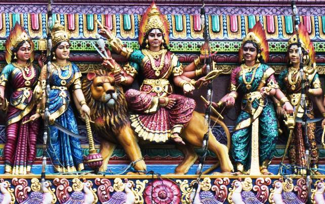Goddess Durga described in Durga suktam lyrics and meaning.