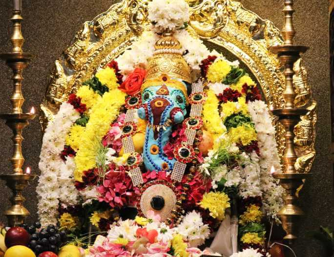 Lord Ganesha described as in Ganesha Ashtakam or Ganashtakam